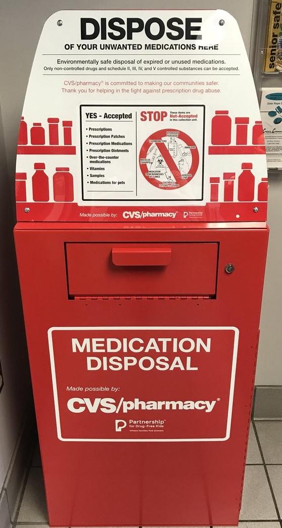 JPD Drug Collection Box