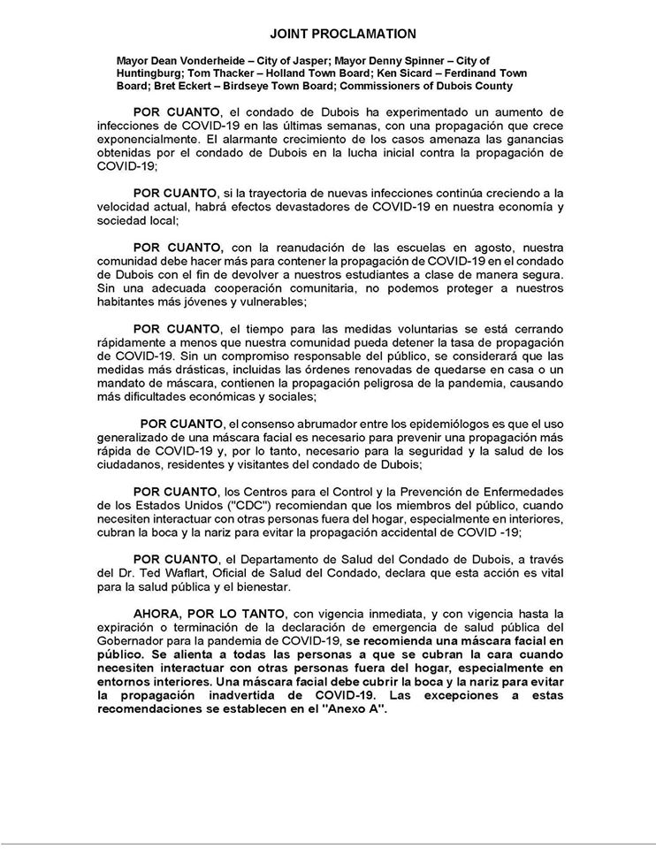 Joint Proclamation-Spanish_7-2020
