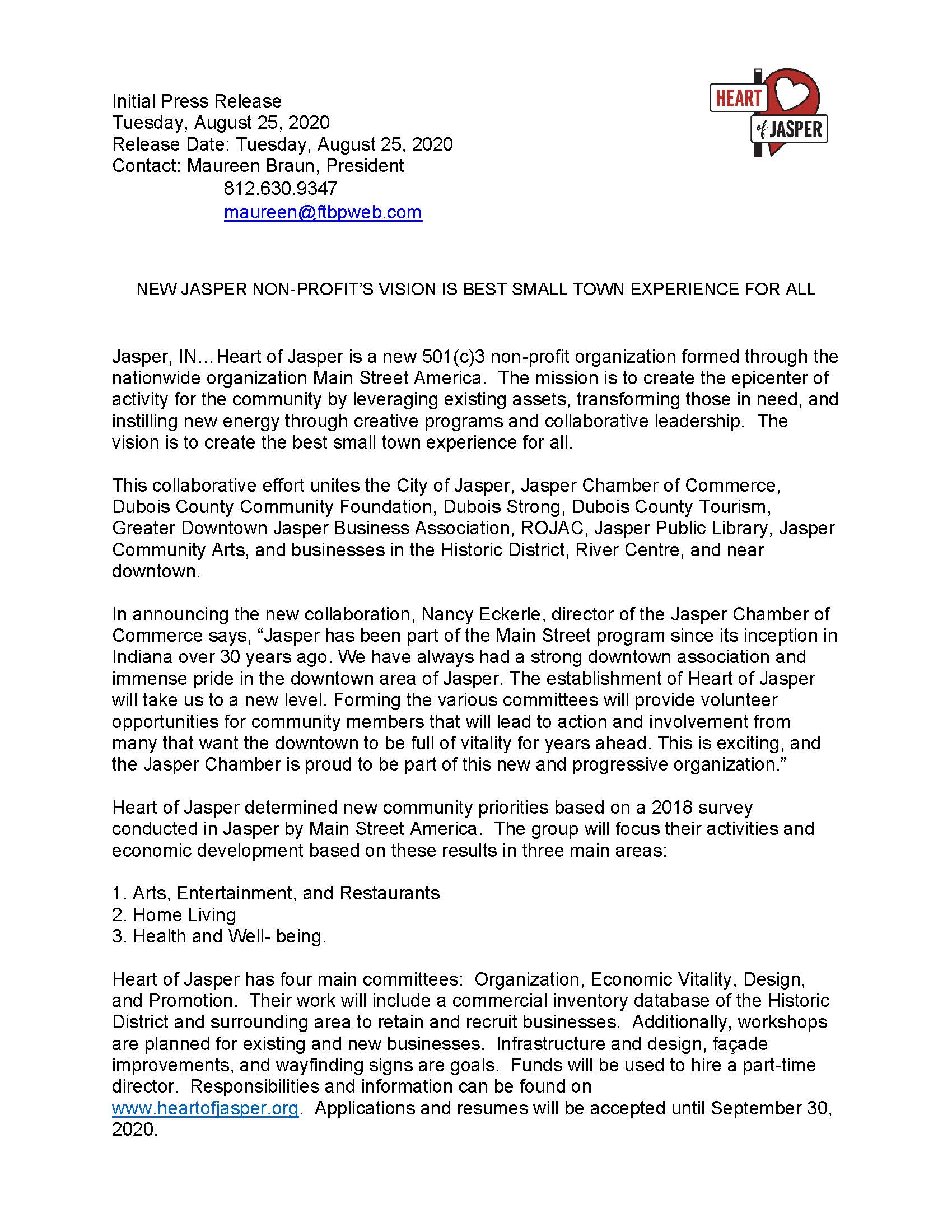 Heart of Jasper News Release_Page1